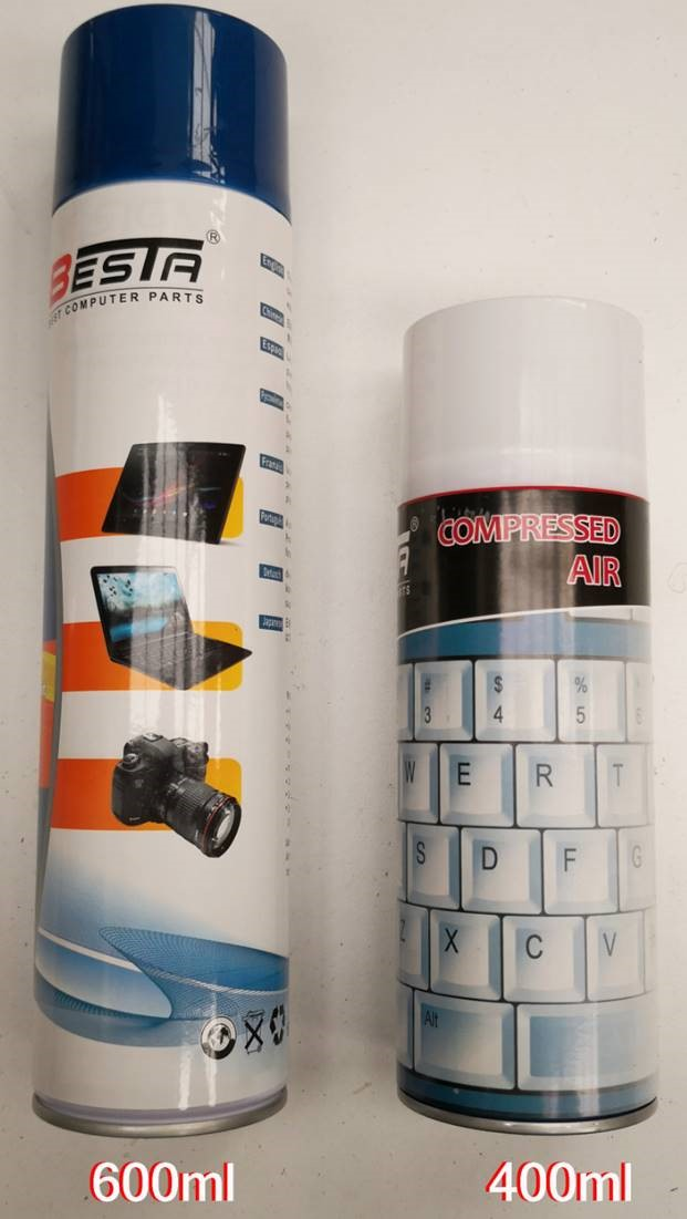 Besta, Air, Duster, Compressed, Can, Spray, 600ml, for, Cleaning, Motherboards, Video, Cards, PCs, Laptops, Keyboards, Cameara, Lens, Mob,