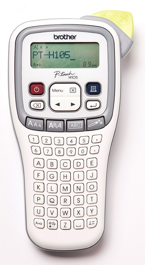 Brother, PTH105, Accent, Labeller, Handheld, White/Grey, 3.5-12MM,