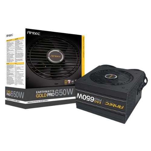 Antec, EA650G, PRO, 650w, 80+, Gold, PSU, Semi-Modular, 120mm, Silence, Fan, Japanese, Caps, 7, Years, Warranty,