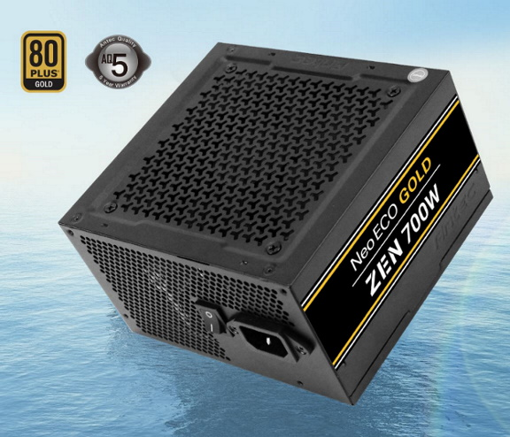 Antec, Neo, Eco, ZEN, 700w, PSU, 80+, Gold, 120mm, Silent, Fan, Thermal, manager, Japanese, Caps, 5, Years, Warranty,