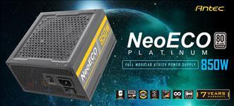 Antec, NeoEco, 850w, 80+, Platinum, Fully, Modular, Zero, RPM, 28(18+10), pin, MBU, socket, 120mm, Silent, Fan, Continuous, Power, A,