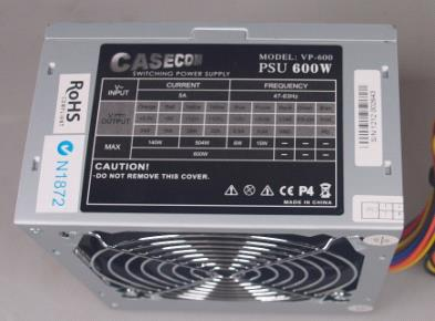 Casecom, 600W, 120mm, FAN, ATX, PSU, 2, Years, Warranty,