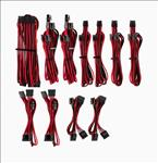 For, Corsair, PSU, -, RED/BLACK, Premium, Individually, Sleeved, DC, Cable, Pro, Kit, Type, 4, (Generation, 4),