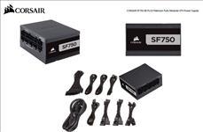 Corsair, 750W, SF, 80+, Platinum, Fully, Modular, 80mm, FAN, SFX, PSU, (Not, ATX, Standard), 7, Years, Warranty,