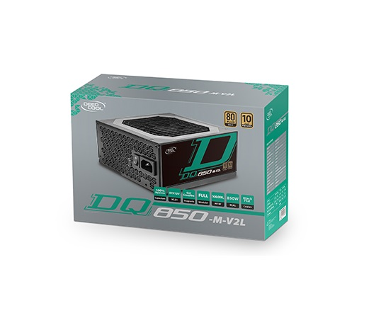 Deepcool, GamerStorm, DQ850-M, V2L, Fully, Modular, 850W, 80+, Gold, Power, Supply, Unit, (PSU), Japanese, Capacitors, 10-Year, Warran,