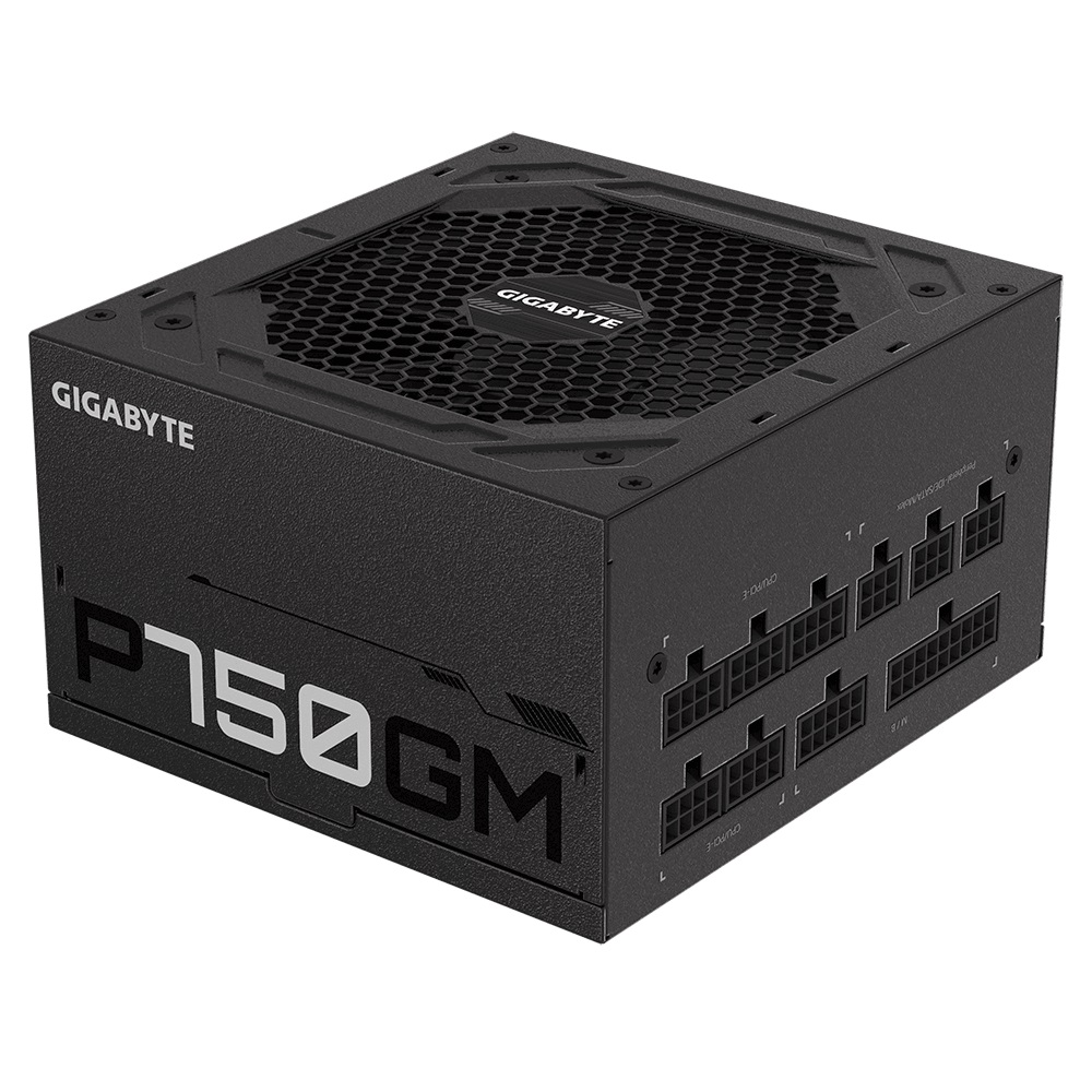 Gigabyte, AP750GM, AORUS, 750W, ATX, PSU, Power, Supply, 80+, Gold, 90%, Modular, 135mm, Fan, Black, Flat, Cables, Single, +12V, Rail, Japa,