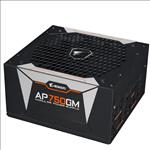 Gigabyte, AP750GM, AORUS, 750W, ATX, PSU, Power, Supply, 80+, Gold, 90%, Modular, 135mm, Fan, Black, Flat, Cables, Single, +12V, Rail, Japa,
