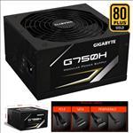Gigabyte, G750H, 750W, ATX, PSU, Power, Supply, 80+, Gold, 90%, 140mm, Fan, Modular, Black, Flat, Cables, Single, +12V, Rail, Japanese, Cap,
