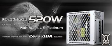 Silverstone, 520W, NJ, PSU, 80+, Platinum, Fully, Modular, Fanless, ATX, PSU, 3, Years, Warranty, (LS),