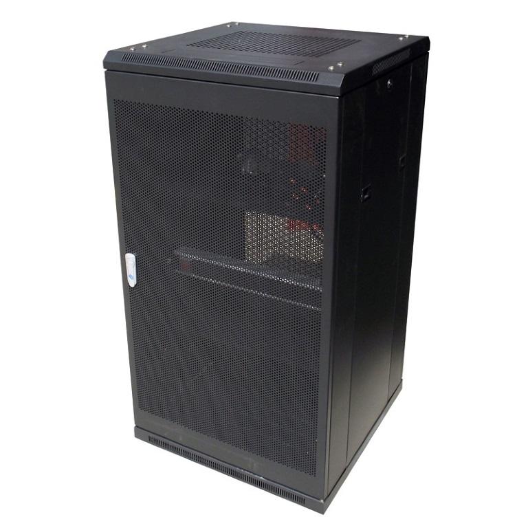 LinkBasic, 18RU, 800mm, Depth, Server, Rack, Mesh, Door, with, 4x240v, Fans, and, 8-Port, 10A, PDU,