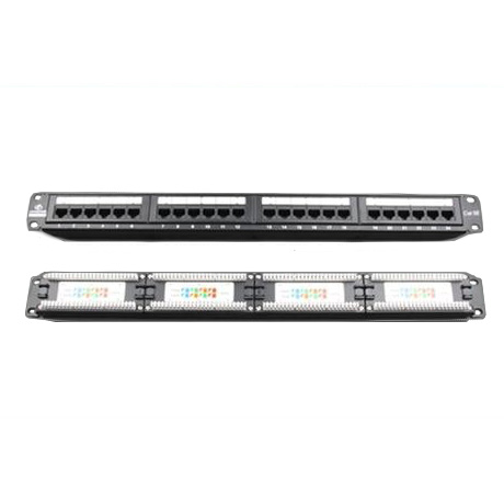 LinkBasic, 24, Port, Cat6, Patch, Panel, Rack, Mount,