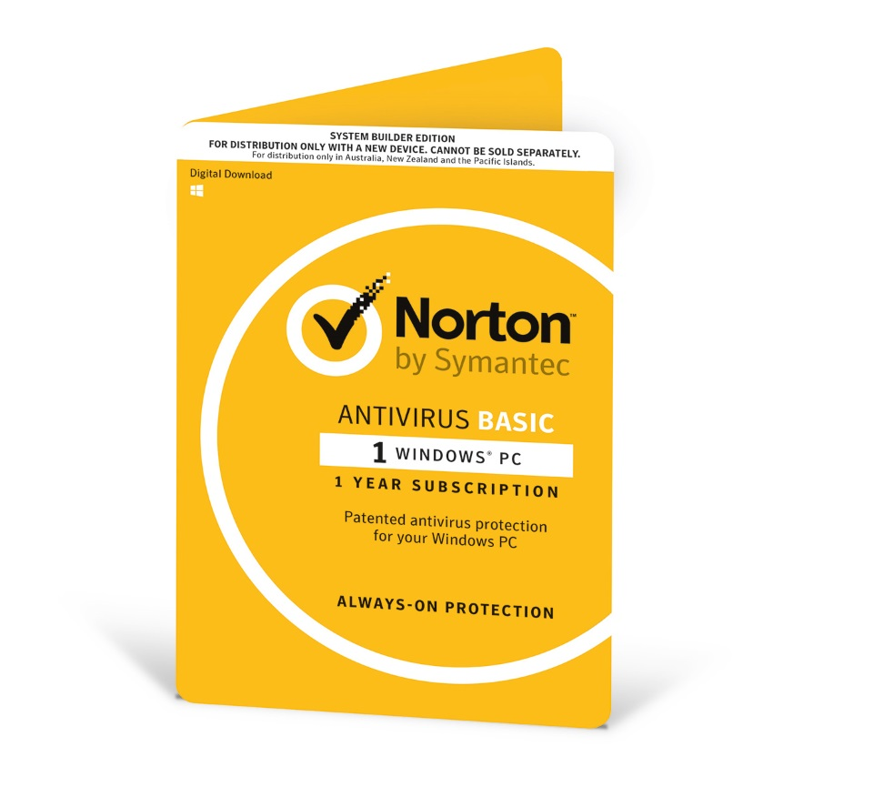 Norton, Antivirus, 2018, 1, User, 1, Device, 12, Months, PC, Only, OEM,