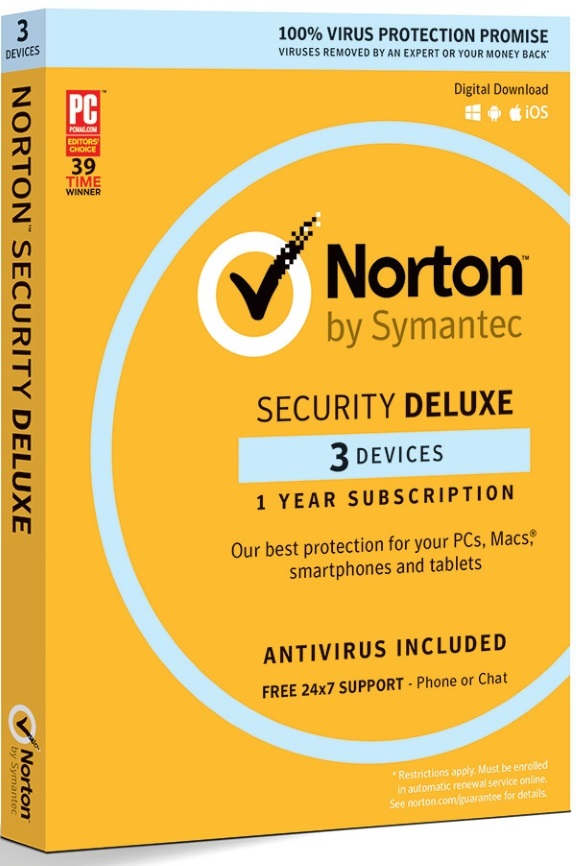 NORTON, SECURITY, DELUXE, 3.0, AU, 1, USER, 3, DEVICE, 12MO, RETAIL,