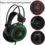 RAPOO, VH200, Illuminated, RGB, Glow, Gaming, Headsets, Black, -, 16m, Colour, Breathing, Light, Hidden, Noise-Cancelling, Microphones,