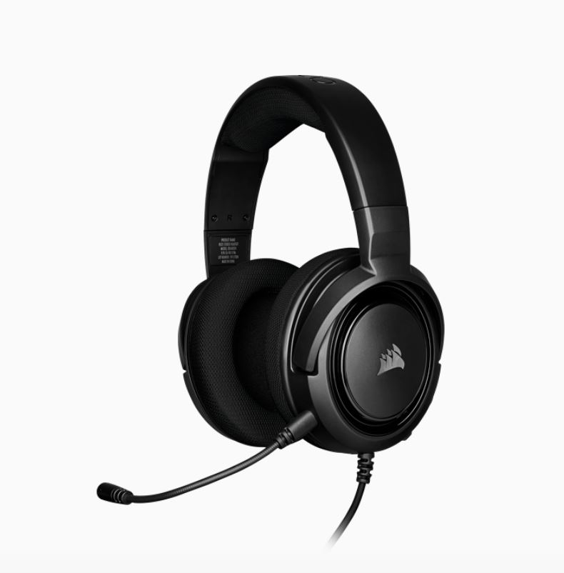 CORSAIR, HS35, STEREO, Gaming, Headset, Discord, Certified, Clear, Sound, and, Plush, Memory, Foam, Carbon,