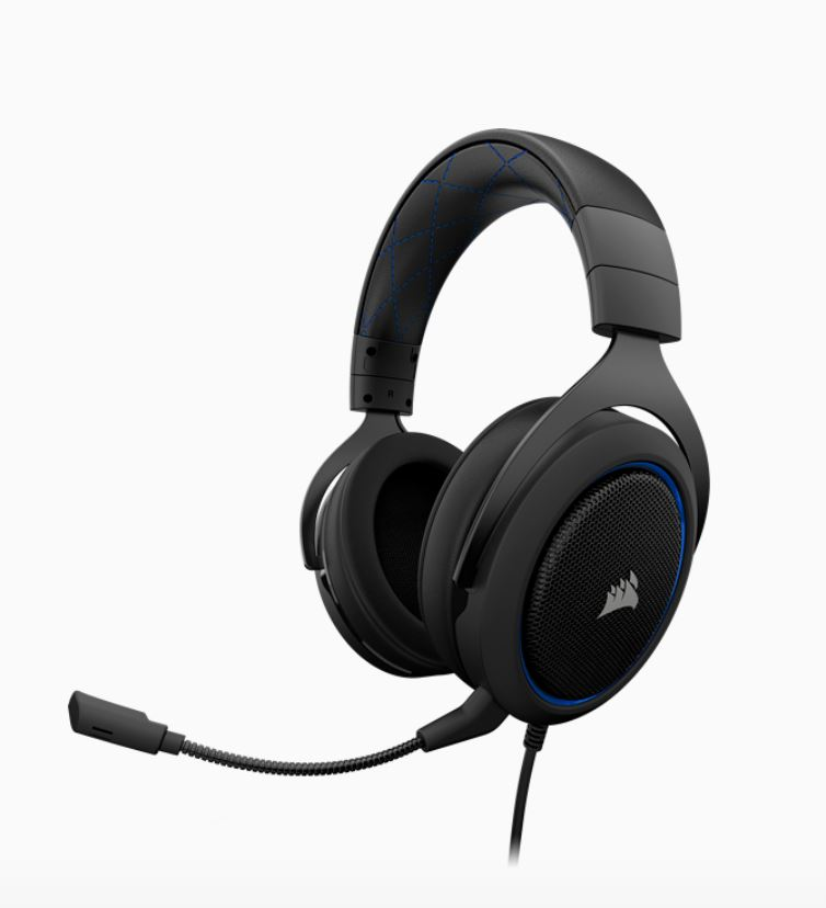 CORSAIR, HS50, STEREO, Gaming, Headset, Blue,