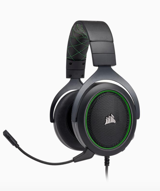 CORSAIR, HS50, STEREO, Gaming, Headset, Green,