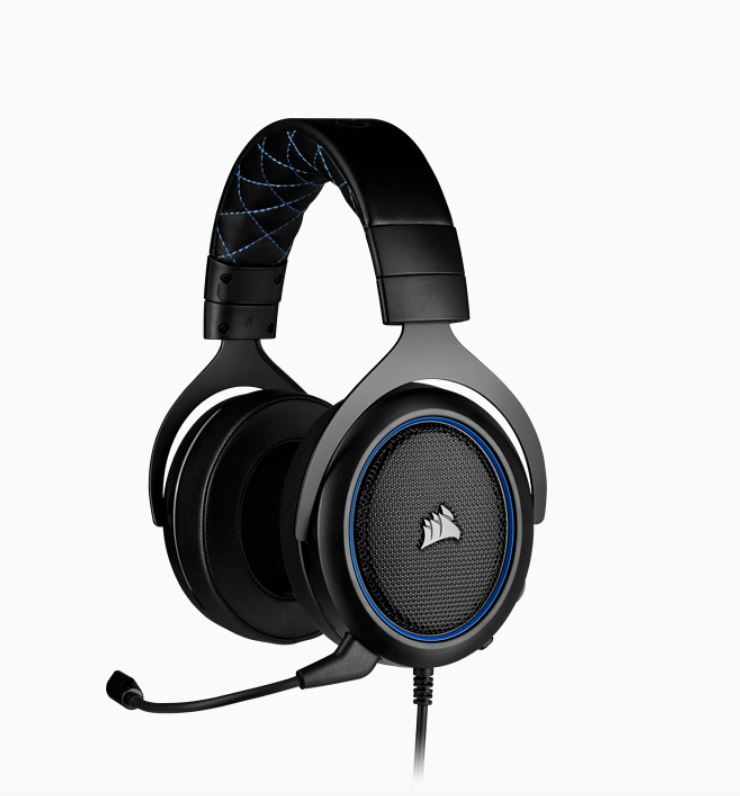 Corsair, HS50, PRO, Blue, STEREO, Gaming, Headset,
