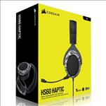 CORSAIR, HS60, HAPTIC, Stereo, Gaming, Headset, with, Haptic, Bass, -, Black, with, Camouflage, Black, and, White, Headset, Cover,