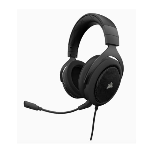 CORSAIR, HS60, STEREO, 7.1, Surround, Gaming, Headset, Black, with, White, Trim.,