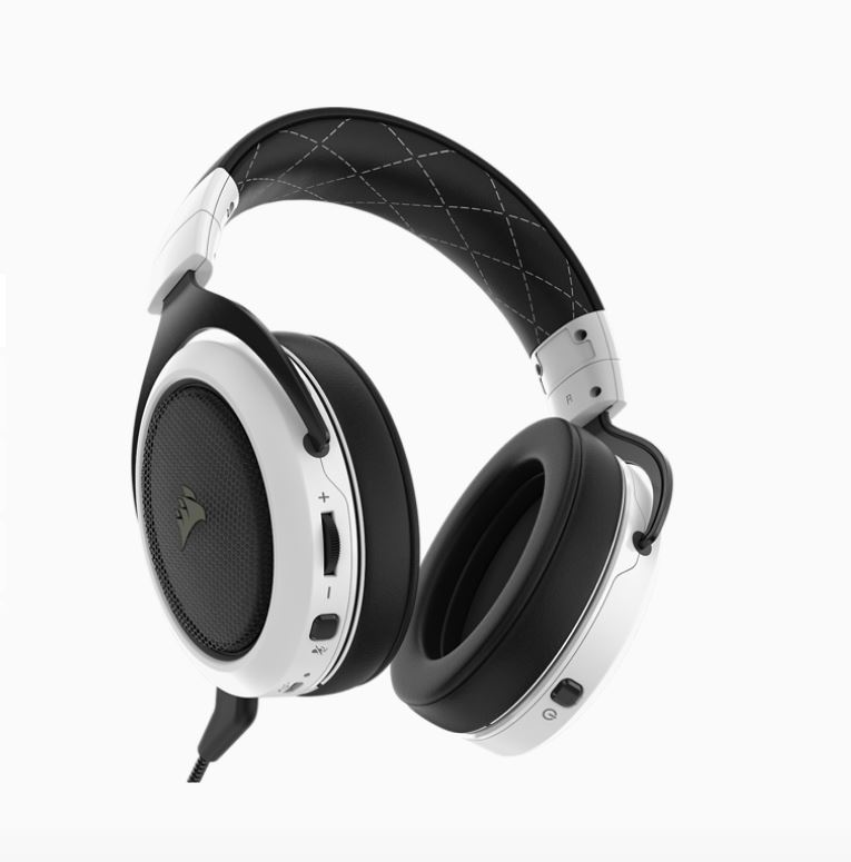 Corsair, HS70, Wireless, Gaming, Headset, White, with, Black., Up, to, 16hrs, of, Playback., PC, and, PS4, Compatible., 2, Years, Warranty,