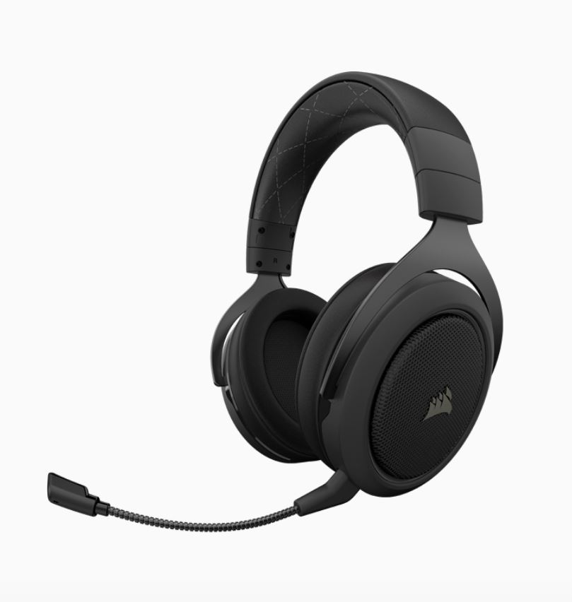 Corsair, HS70, Pro, Wireless, Gaming, Headset, Carbon., 7.1, Sound, Up, to, 16hrs, of, Playback., PC, and, PS4, Compatible., 2, Years, Warr,