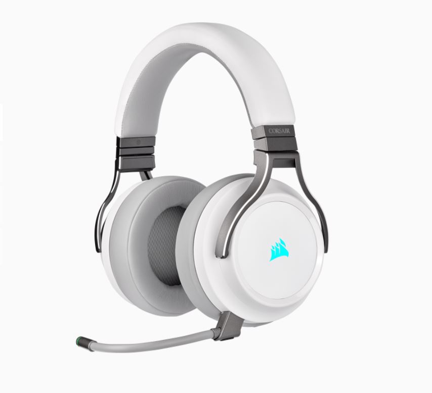 Corsair, Virtuoso, Wireless, RGB, White, 7.1, Headset., High, Fidelity, Ultra, Comfort, supports, USB, and, 3.5mm, Gaming, Headset,