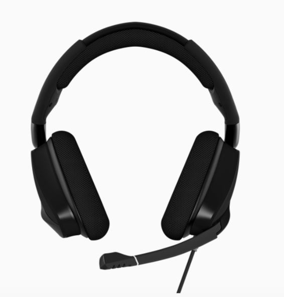 Corsair, VOID, Elite, Carbon, Black, USB, Wired, Premium, Gaming, Headset, with, Dolby®, Headphone, 7.1, AUDIO,