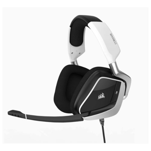 Corsair, VOID, PRO, WHITE, RGB, Wireless, Premium, Gaming, Headset, with, Dolby®, Headphone, 7.1, AUDIO,