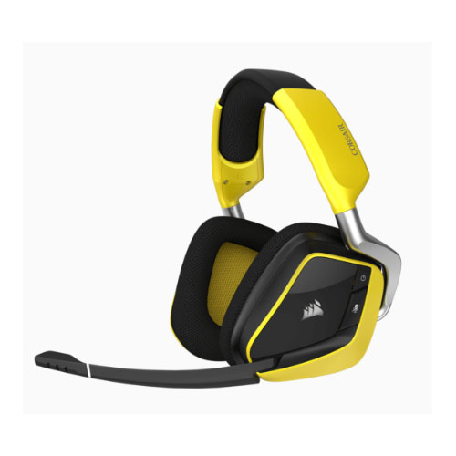 Corsair, VOID, PRO, YELLOW, RGB, Wireless, Special, Edition, Dolby, 7.1, Surround, Sound, Headset,