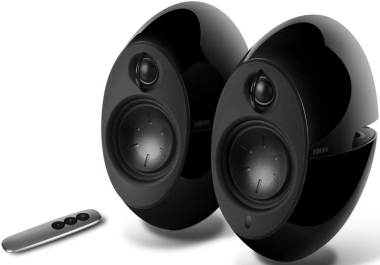 Edifier, E25HD, LUNA, HD, Bluetooth, Speakers, Black, -, BT, 4.0/3.5mm, AUX/Optical, DSP/, 74W, Speakers/, Curved, design/Dual, 2x3, Pass,