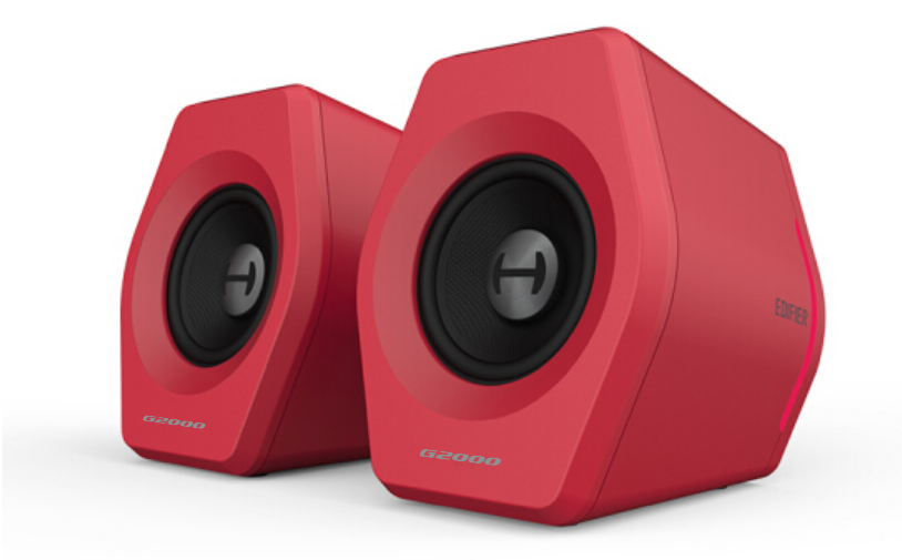 Edifier, G2000, Gaming, 2.0, Speakers, System, -, Bluetooth, V4.2/, USB, Sound, Card/, AUX, Input/RGB, 12, Light, Effects/, 16W, RMS, Power,