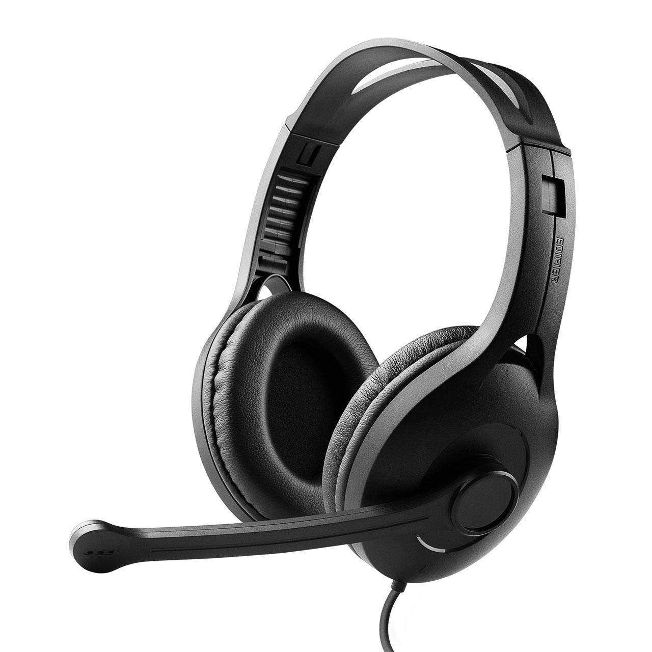 Edifier, K800, USB, Headset, with, Microphone, -, 120, Degree, Microphone, Rotation, Leather, Padded, Ear, Cups, Volume/Mute, Control,