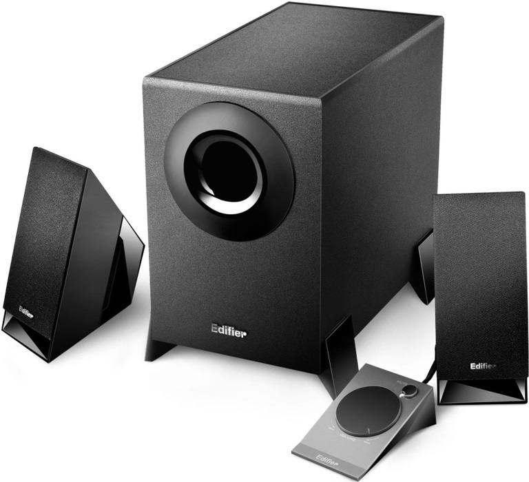 Edifier, M1360, 2.1, Multimedia, Speakers, -, 3.5mm, AUX/4INCH, Subwoofer/Remote/RCA, Remote, Control, input,