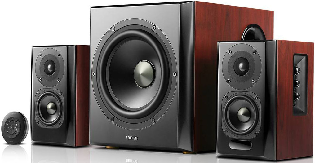 Edifier, S350DB, 2.1, Bluetooth, Multimedia, Speakers, w/Subwoofer, -, 3.5mm/Optical/BT, 4.1, AptX, Wireless, Sound/, Remote, Control/,