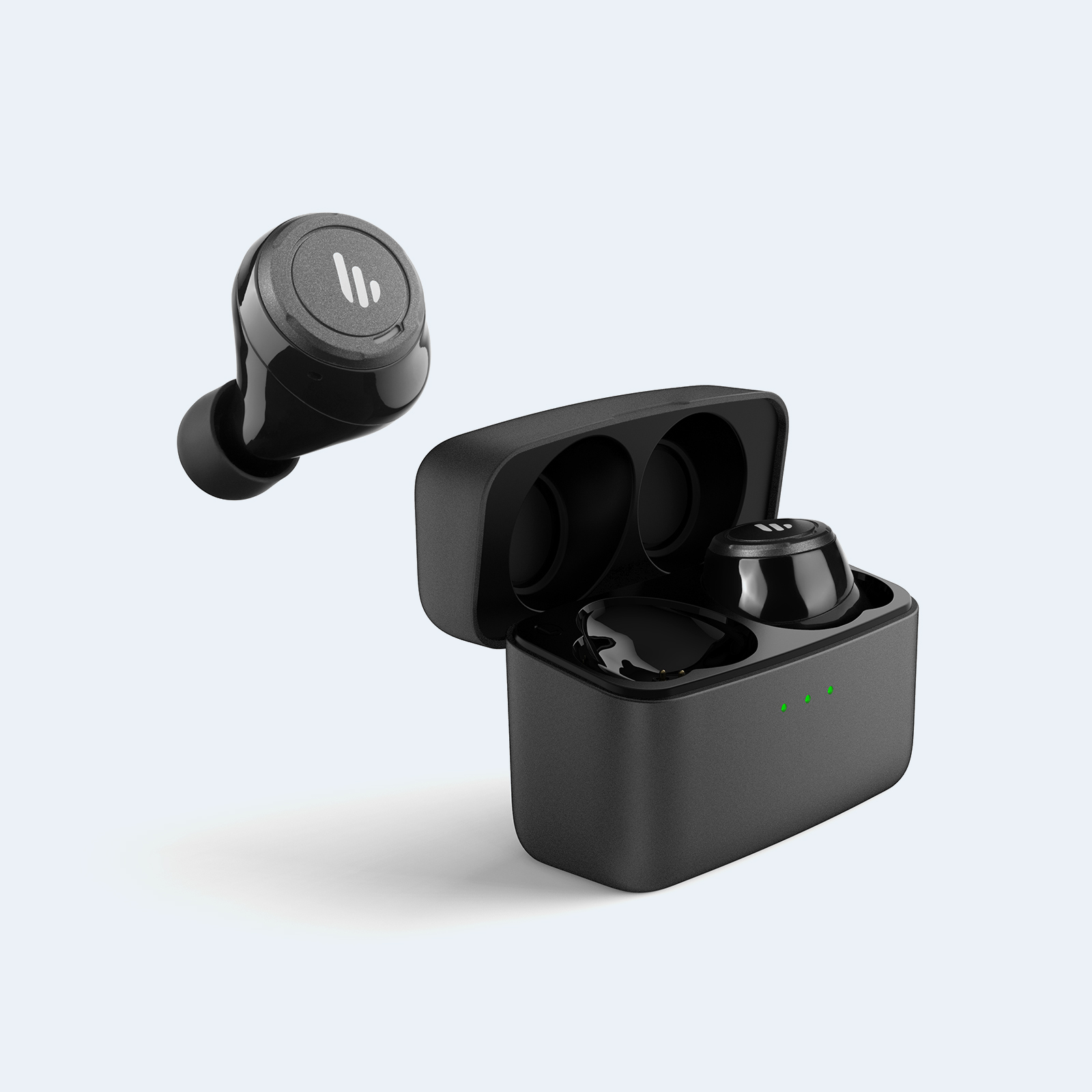 Edifier, TWS5, Bluetooth, Wireless, Earbuds, -, BLACK/, Bluetooth, 5.0/, Up, to, 32, hours, Battery, Life/8hours, Playback/CVC, Noise, Re,