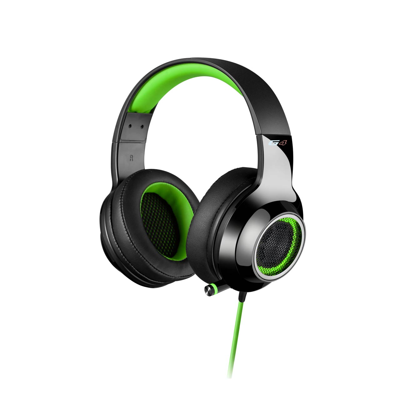 Edifier, V4, (G4), 7.1, Virtual, Surround, Sound, USB, Gaming, Headset, Green, -, V7.1, Surround, Sound/, Retractable, Mic/LED, Lights, Me,