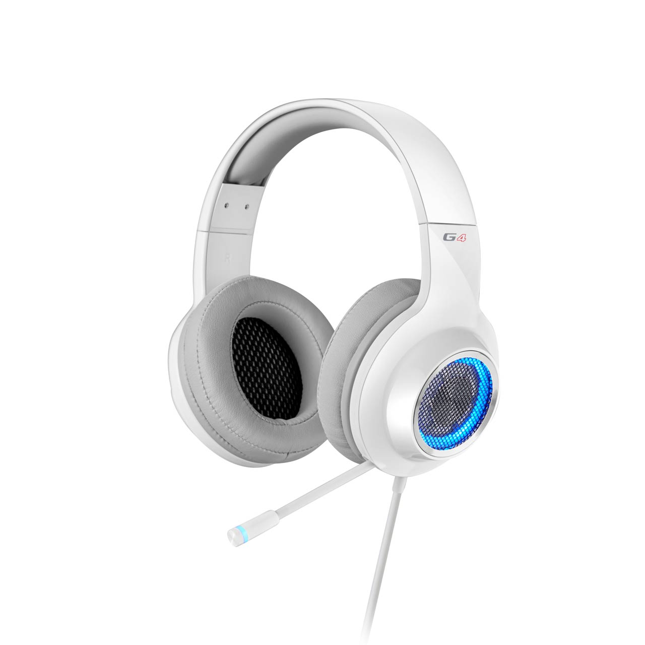 Edifier, V4, (G4), 7.1, Virtual, Surround, Sound, USB, Gaming, Headset, White, -, V7.1, Surround, Sound/, Retractable, Mic/LED, Lights, Me,