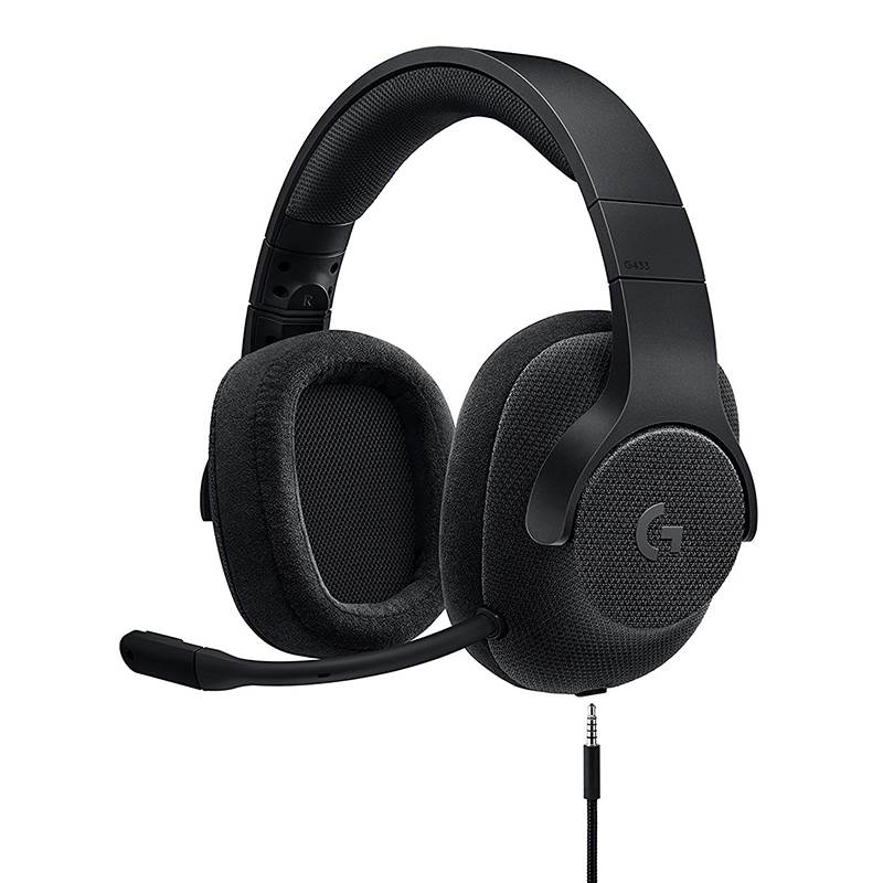 LOGITECH, G433, WIRED, 7.1, DTS, SRS, GAMING, HEADSET, PRO, G, 50MM, AUDIO, DRIVER, BLACK, 2YR, Warranty,