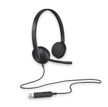 Logitech, H340, USB, HEADSET, -, BLACK.,