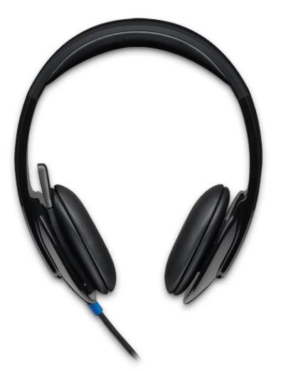 Logitech, H540, USB, HEADSET, -, BLACK,