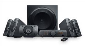 LOGITECH, Z906, 5.1, SURROUND, SOUND, SPEAKERS, RMS(500W), OPTICAL(2), 3.5MM(1), RCA(1), 2YR, WTY,