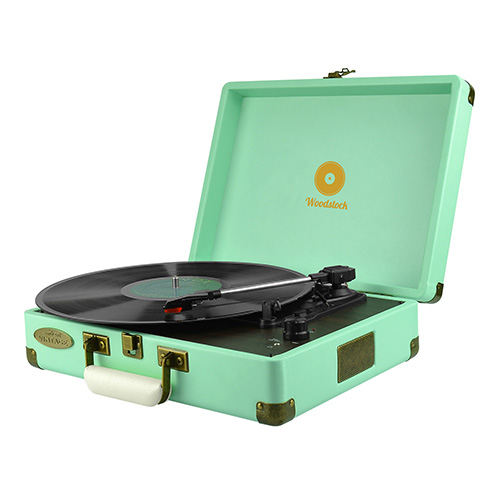 mbeat®, Woodstock, Retro, Turntable, Player, TIIFFANY, BLUE,