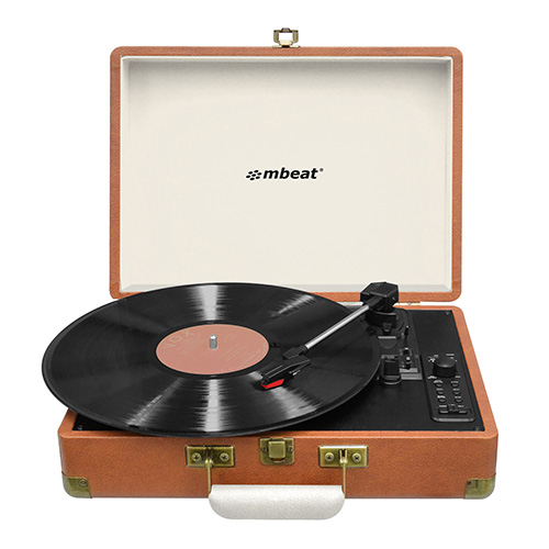 mbeat®, Woodstock, Retro, Turntable, Recorder, with, Bluetooth, &, USB, Direct, Recording,