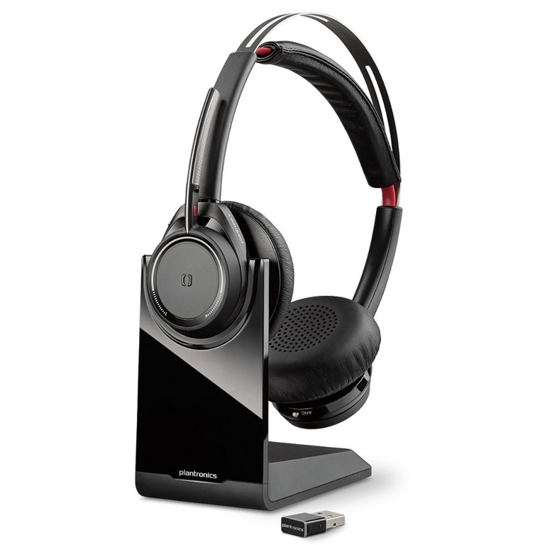 PLANTRONICS, VOYAGER, FOCUS, UC, B825-M, STEREO, ANC, BT, HEADSET, W/CHARGING, STAND, -, LYNC, VER,