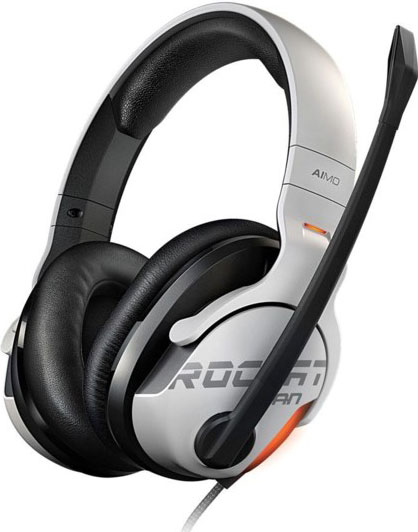 Roccat, KHAN, AIMO, 7.1, High, Resolution, RGB, Gaming, Headset, White,
