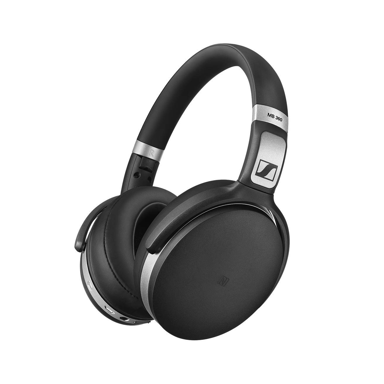 Sennheiser, MB360UC, Wireless, Bluetooth, OverEar, ANC, headset, NFC, certified, for, Skype, for, Business, and, UC, optimized., With,