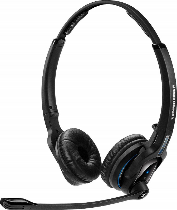 Sennheiser, Bluetooth, 4.0, headset, binaural, ultra, noise, cancelling, microphone, double, ear, talk, time, up, to, 15, hours, Sen,
