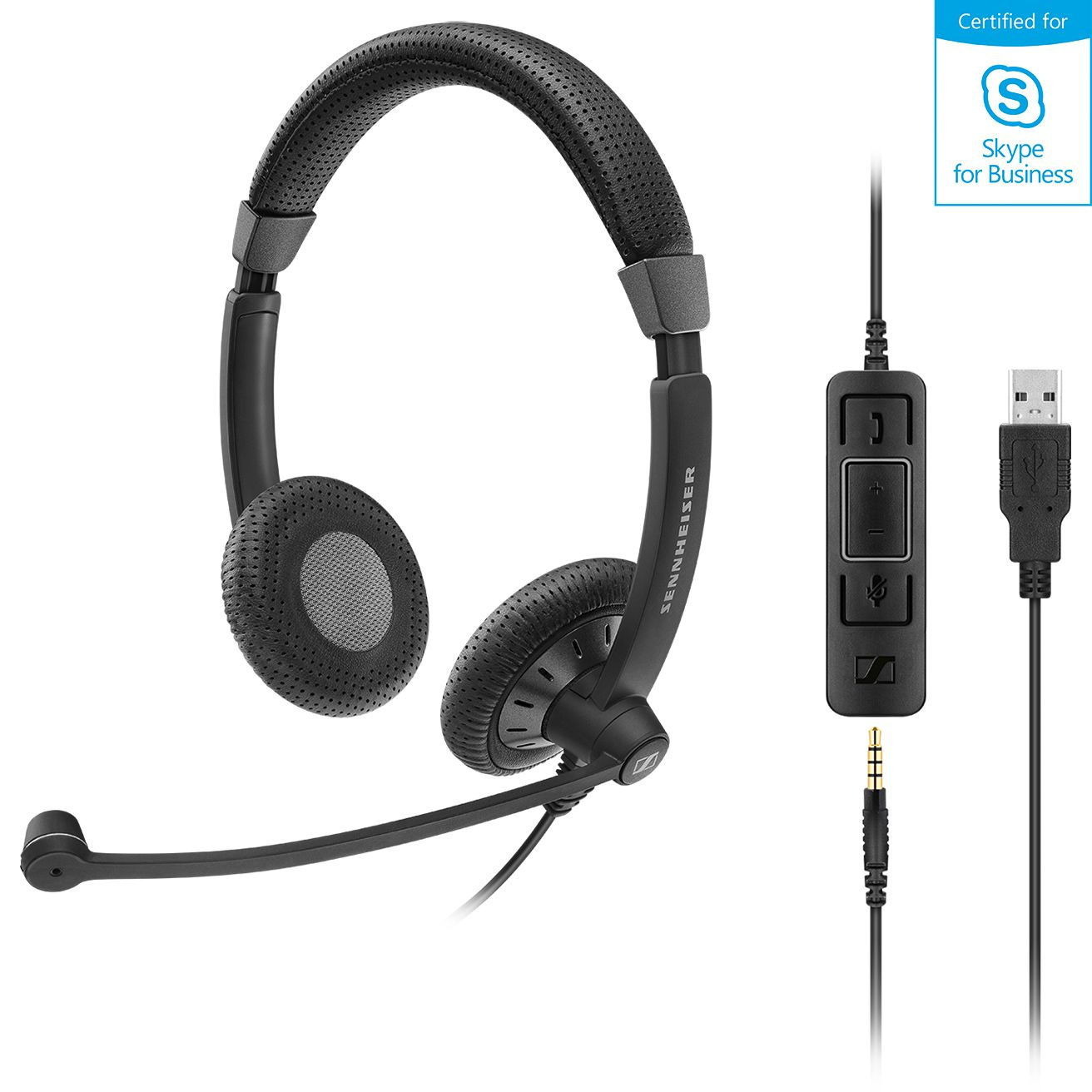 Sennheiser, Stereo, corded, headset, with, 3.5, mm, four-pole, jack, plus, detachable, USB, cable, with, call, control., Noise, cancel, m,