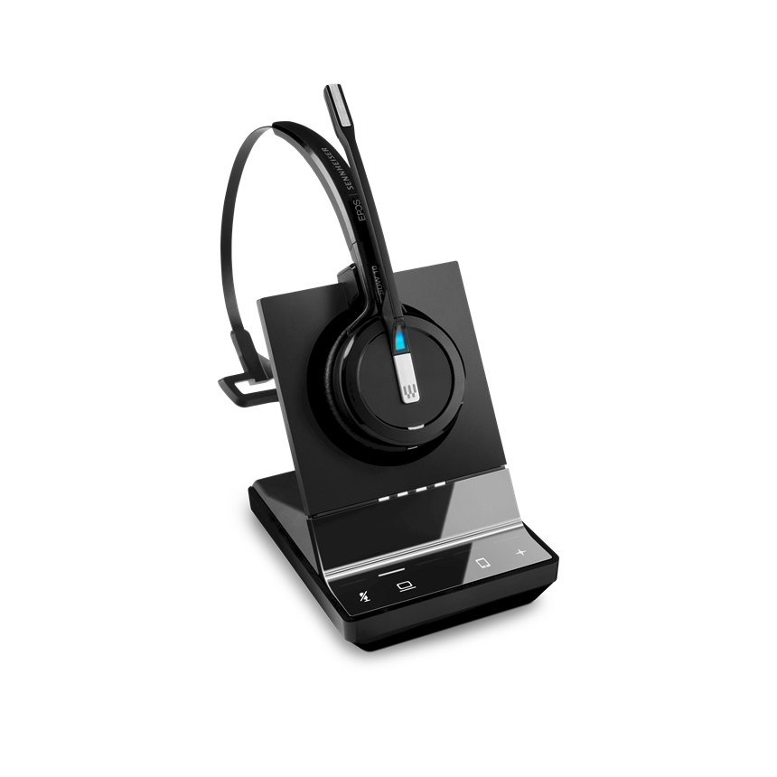 Sennheiser, SDW, 5014, DECT, Wireless, Office, headset, with, base, station, for, PC, and, mobile, with, BTD, 800, dongle, 3-in-1, heads,
